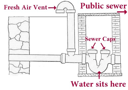 Broken house sewer trap how to use sewer trap harris Trap house plans