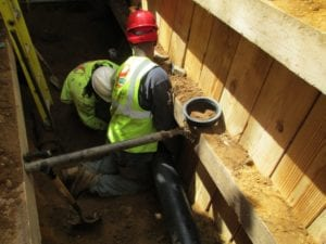 Installing cast iron pipe