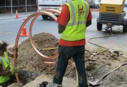 Installing copper pipe