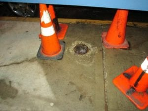 Sidewalk leak