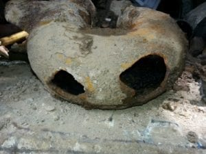 Deteriorated pipe