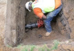 Installing new curb valve