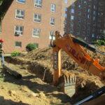 Repairing sewer pipe