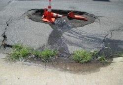 Roadway sinkhole