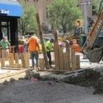 Sidewalk excavation