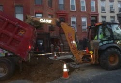 Clean soil for protected street