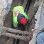 Installing new iron pipe