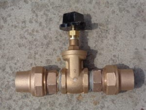 New curb valve ready for install