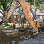 Digging for sewer repair