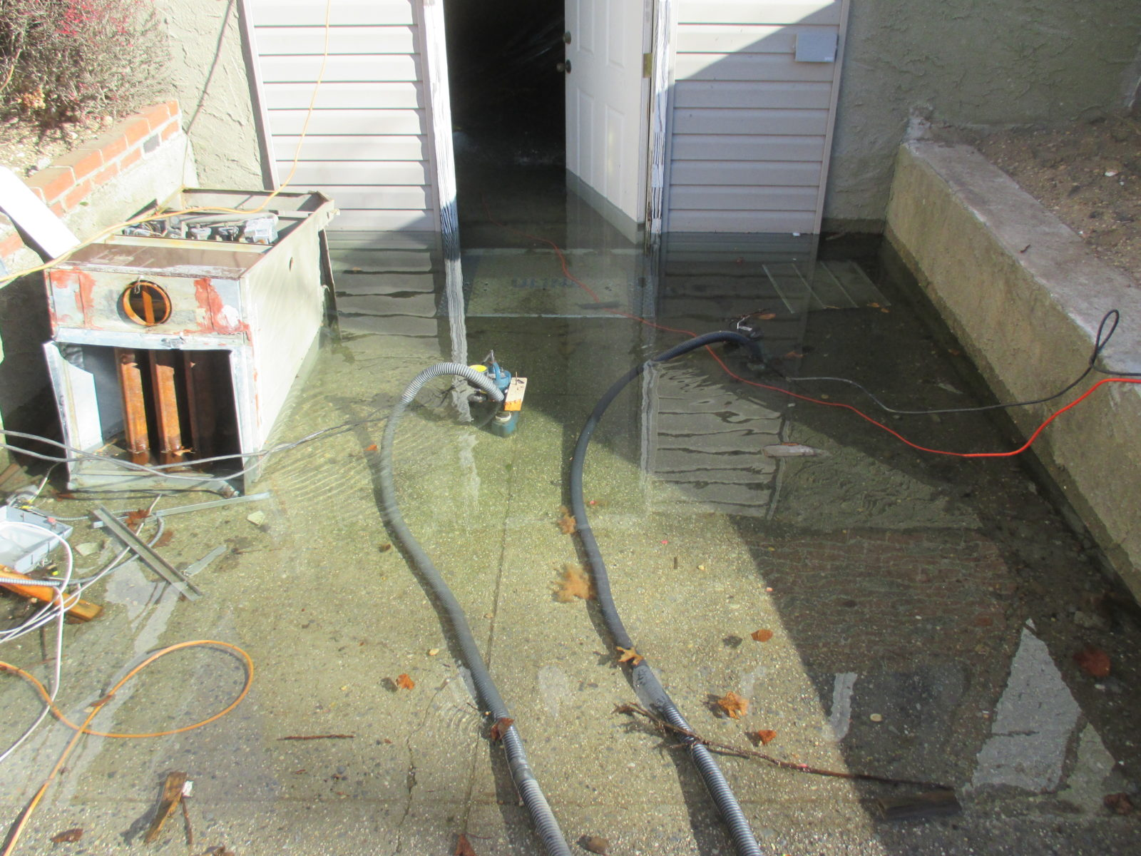 Water Main Leak Floods Basement ...