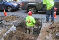 Digging for new water main