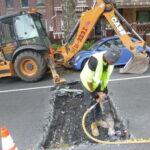 Roadway work begins