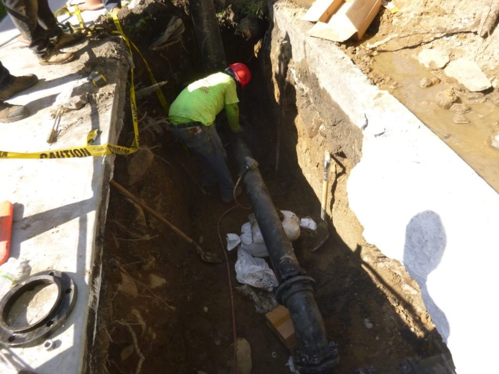 """New 6"""" piping installed"""