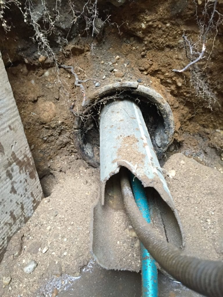 Failed sewer liner