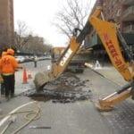 Digging for water main