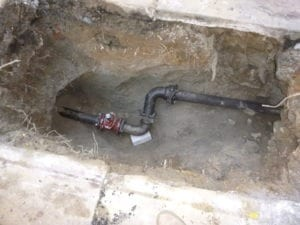 Curb valve below ground