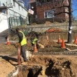 installing copper water main Queens