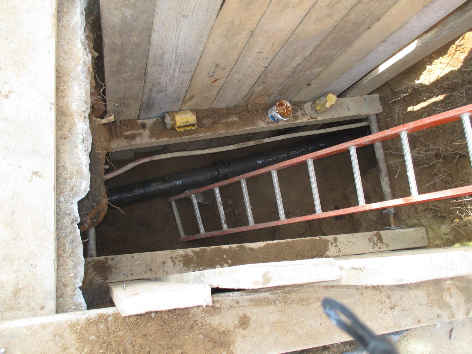 Street plumbing into building nyc harris water main