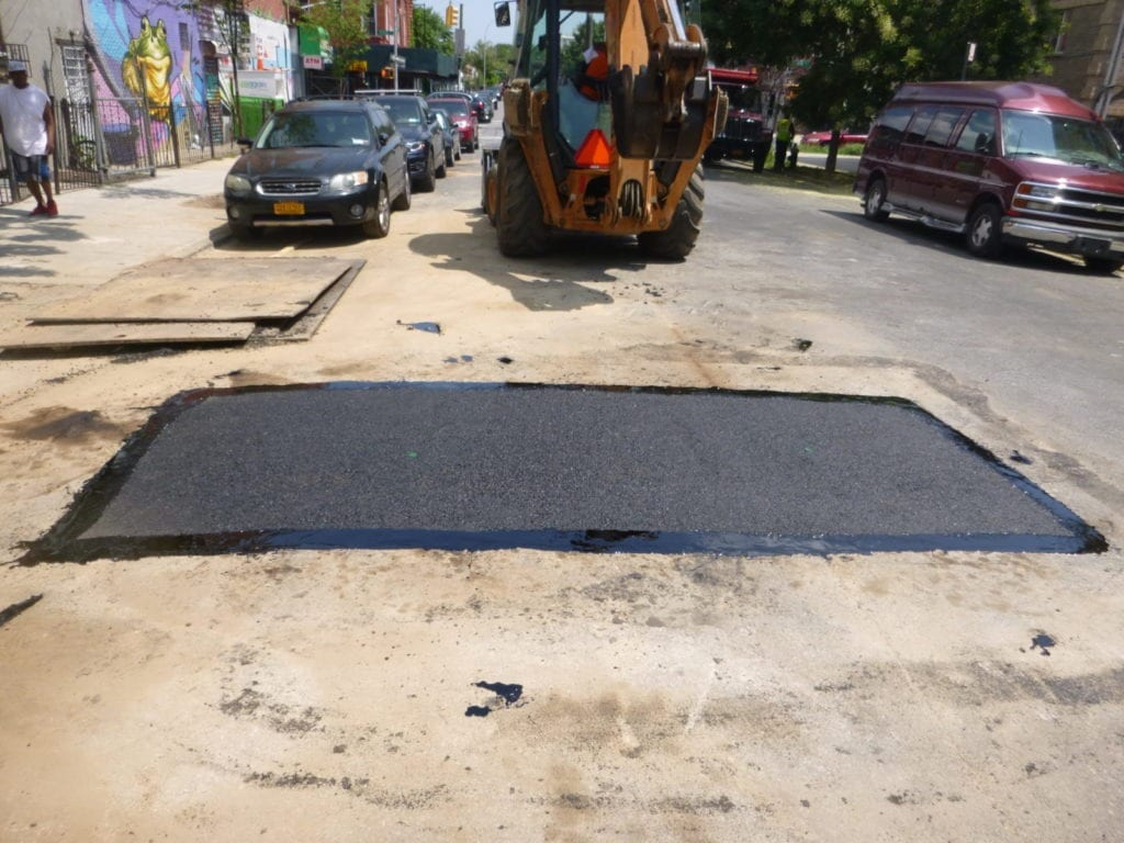 Roadway paving completed