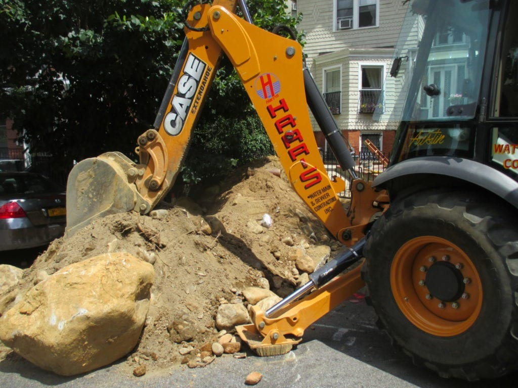 Large boulder from sewer excavation