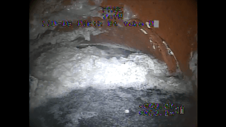 Inside of sewer line
