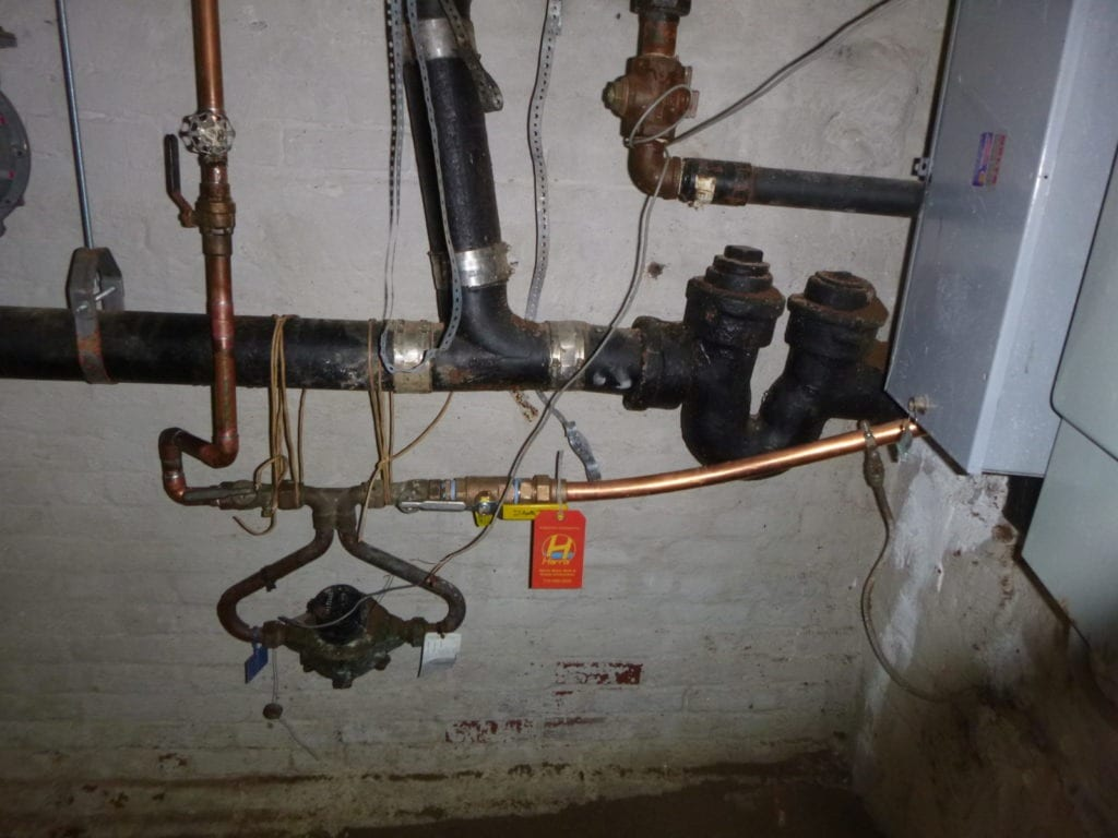 new ball valve on copper main
