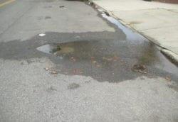 Water main leak in Brooklyn street