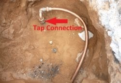 water main tap connection