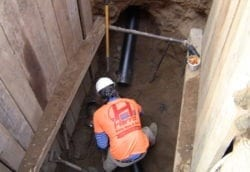 Sewer repair of cast iron pipe