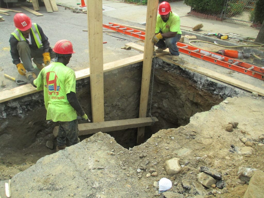 Shoring hole for safety