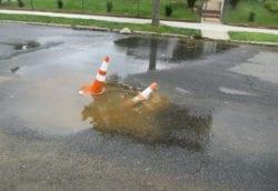water main creates sinkhole