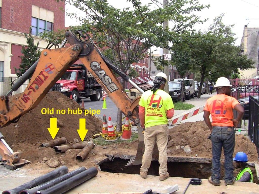Installing new cast iron sewer line brooklyn