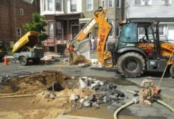 Excavating for new water line install