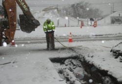 water main snow