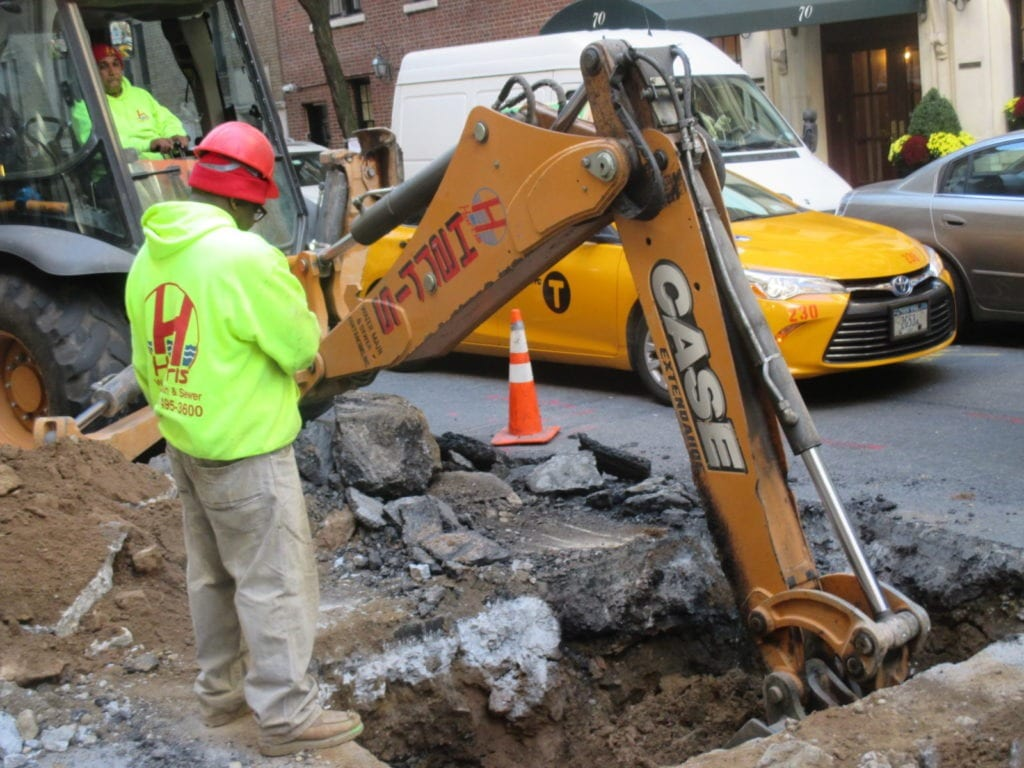 Water Main Excavating begins
