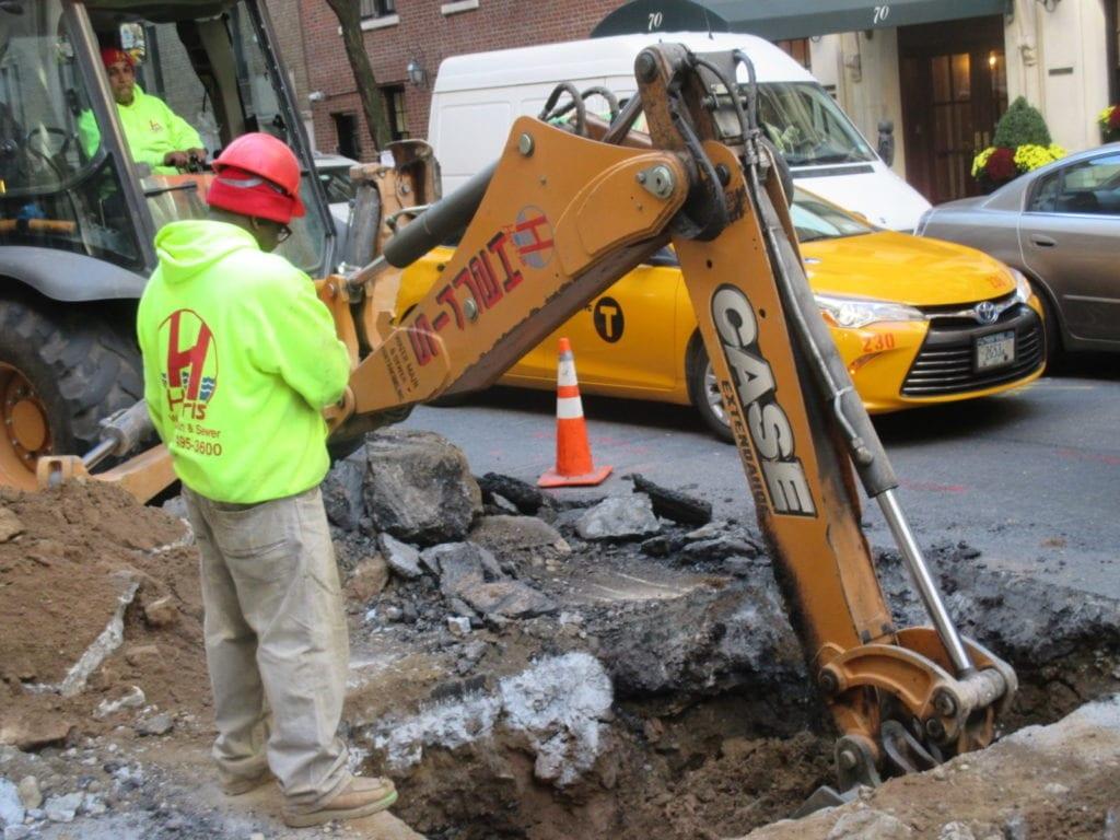 Water Main Excavating begins