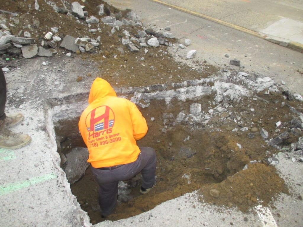 Roadway excavation begins