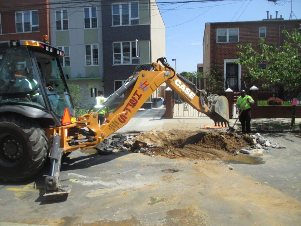Excavating for new water line