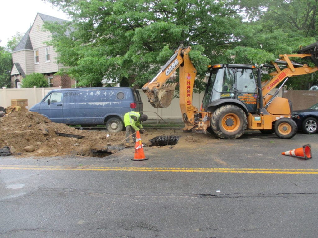 "Digging holes near the ""problem spot"""