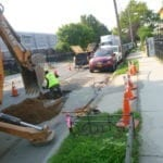 Digging for new copper water main
