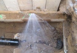 water main leak lead pipe