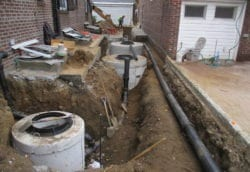 Storm water system, detention tanks, drains
