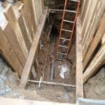 "New 6"" cast iron sewer line"