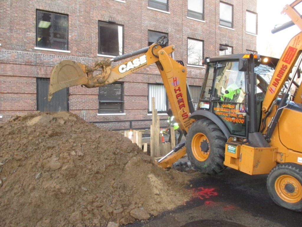 Excavating for new sewer