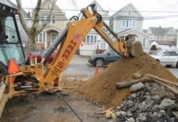 replacing clay sewer line with cast iron