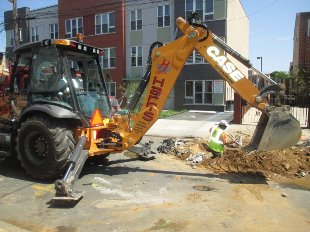Digging for the new water line installation