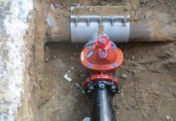 New wet connection for sprinkler main