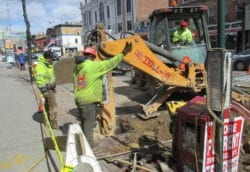 sewer repair with cast iron