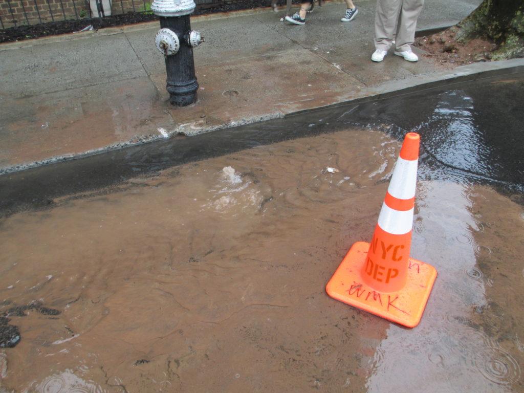 City fire hydrant indicates short water main