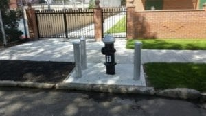 hydrant fenders and concrete completed